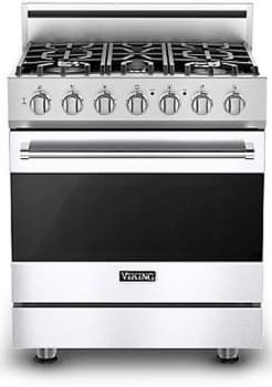 Viking 3 Series RVDR33025BWHLP - White (Shown with Optional Backguard)