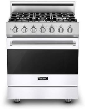 Viking 3 Series RVGR33025BWHLP - White (Shown with Optional Backguard)