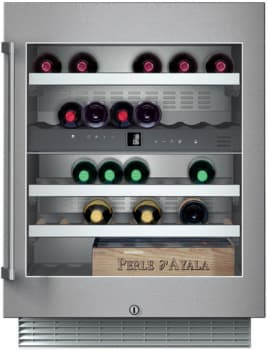 "Gaggenau RW404761 - 24"" Under Counter Dual Zone 34-Bottle Wine Storage"