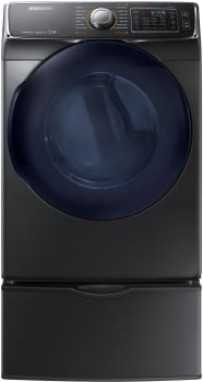Samsung DV45K6500GV - 7.5 cu. ft. Capacity Multi-Steam Dryer in Black Stainless Steel