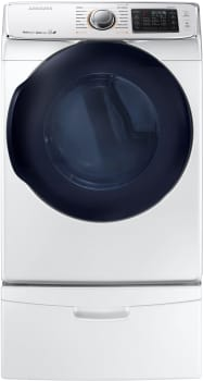 Samsung DV45K6500GW - 7.5 cu. ft. Capacity Multi-Steam Dryer in White