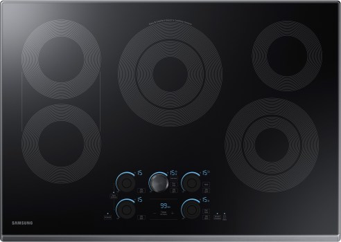 Samsung NZ30K7570RG - 5-Burner Electric Cooktop from Samsung with Black Stainless Steel Trim