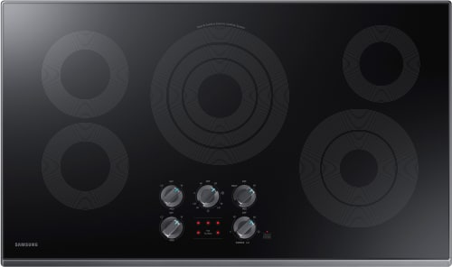Samsung NZ36K6430RG - 5-Burner Electric Cooktop from Samsung with Black Trim