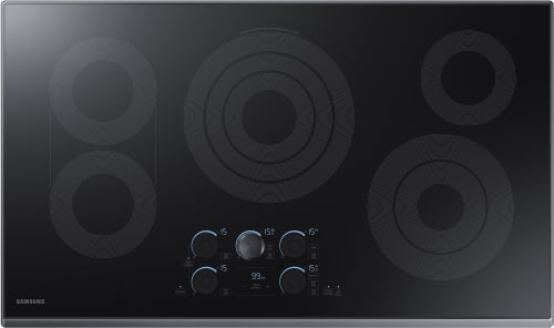 Samsung NZ36K7570RG - 36 Inch Electric Cooktop from Samsung with Black Stainless Steel Trim