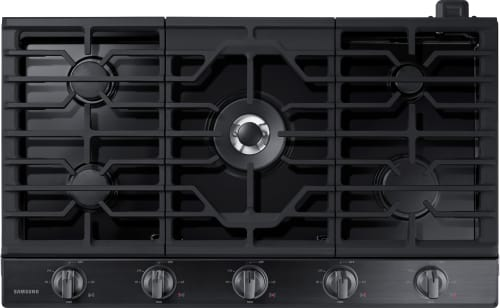 Samsung NA36K6550TG - 5-Burner Gas Cooktop from Samsung in Black