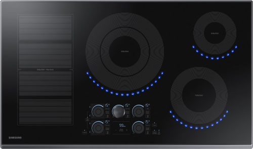 "Samsung NZ36K7880UG - 36"" Induction Cooktop from Samsung with Black Stainless Steel Trim"