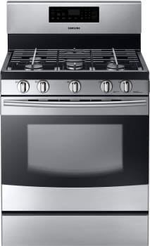 Samsung NX58F5500SS - 30 Inch Freestanding Gas Range with 5 Sealed Burners from Samsung