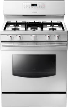Samsung NX58F5500SW - 30 Inch Freestanding Gas Range with 5 Sealed Burners from Samsung