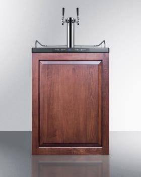 Summit SBC635MBIIFTWIN - Custom Panel Ready Beer Dispenser