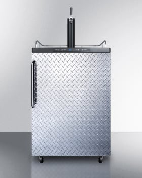 Summit SBC635MOSDPL - Diamond Plate with Towel Bar Handle - NOTE: Top surface comes in Stainless Steel. Shown in the photo is Black.