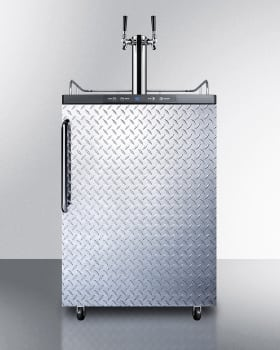 Summit SBC635MOSDPLTWIN - Diamond Plate with Towel Bar Handle - NOTE: Top surface comes in Stainless Steel. Shown in the photo is Black.