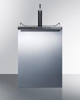 Summit SBC635MBISSHH - Horizontal Handle Beer Dispenser with Stainless Steel Door