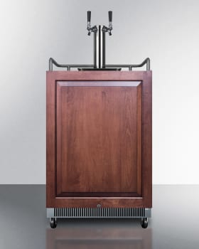 """Summit SBC677BIIFTWIN - 24"""" Built-in Double Tap Beer Dispenser, Custom Panel Ready"""