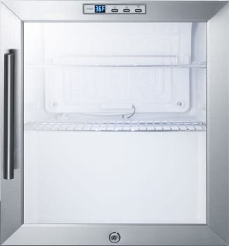 "Summit SCR215 - 17"" Commercially Approved Compact Refrigerator with Glass Door, Professional Handle, and Door Lock"