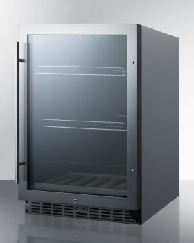 Summit SCR2466CSS - Stainless Steel Cabinet