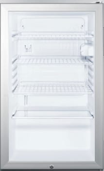 "Summit SCR450LBI77 - 20"" Commercial Compact Glass Door Refrigerator with Standard Handle"