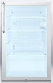AccuCold SCR450LCSSADA - Stainless Steel Cabinet with Towel Bar Handle