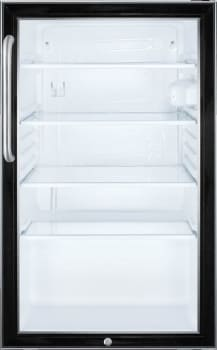 Summit SCR500BL7CSS - Summit's Commercial Series Glass Door Refrigerator with Short Towel Bar Handle
