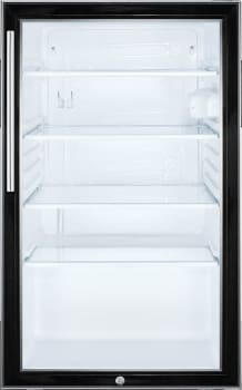 Summit SCR500BL7HV - Summit's Commercial Series Glass Door Refrigerator with Vertical Handle