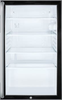 Summit SCR500BL7SH - Summit's Commercial Series Glass Door Refrigerator with Long Towel Bar Handle