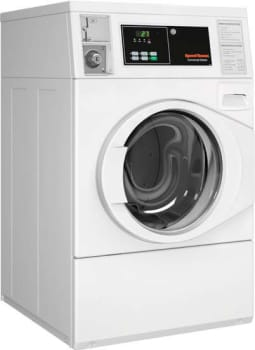 "Speed Queen SFNBCASP113TW01 - 27"" Micro Display Commercial Front Load Washer"