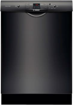 """Bosch 300 Series SHE33T56UC - 24"""" Recessed Handle Dishwasher in Black"""