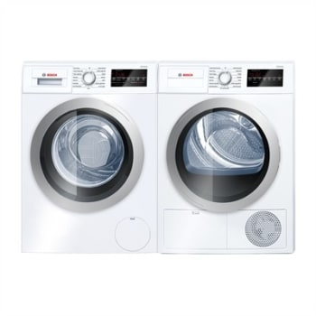 Bosch Bowadreuc1 Side By Side Washer Dryer Set With Front Load