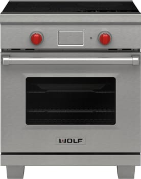 "Wolf IR304PESPH - 30"" Induction Range with Professional Handle Design and Knob Color Options (Signature Red, Black, or Stainless Steel)"
