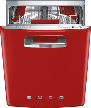 Smeg 50's Retro Design STFABURD - SMEG Dishwasher in Red