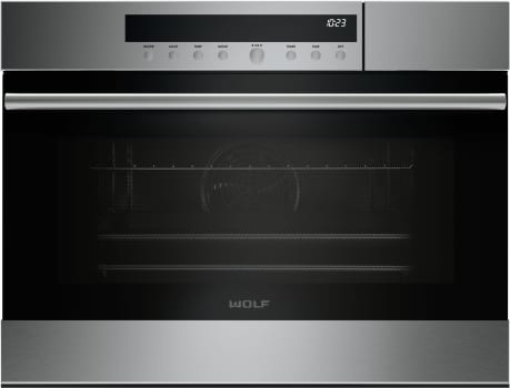 Wolf E Series SO24TESTH - 24 Inch Single E-Series Wall Oven with Transitional Trim and Stainless Steel Tubular Handle