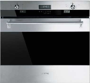 "Smeg Classic Design SOU330X1 - 30"" Single Electric Wall Oven with True European Double Convection"