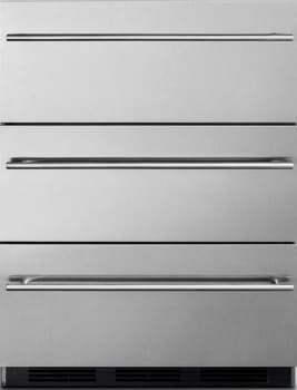 "Summit Commercial Series SP6DSSTBOS7THINADA - 24"" Outdoor Refrigerator Drawers - Thin Handles"