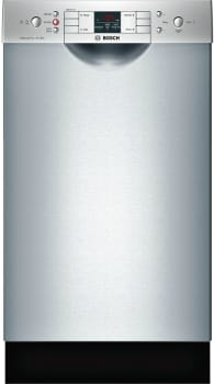 "Bosch 300 Series SPE53U55UC - 18"" Special Application Recessed Handle Dishwasher 300 Series in Stainless steel"