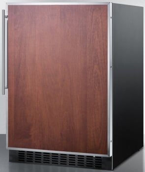 Summit SPR627OSFR - Panel Ready, Stainless Steel Frame
