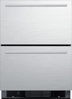 """Summit SPRF2D5IM - Summit's 24"""" Refrigerator & Freezer Drawers for Under Counter Installation"""