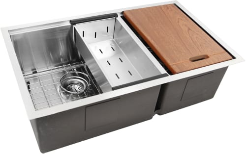 Nantucket Sinks SRPS3219OS16 32 Inch Prep-Station Offset Double Bowl on portable kitchen sinks, light kitchen sinks, electric kitchen sinks, amazon kitchen sinks, stainless steel kitchen sinks, ornate kitchen sinks, black kitchen sinks, tall kitchen sinks, cool kitchen sinks, undermount kitchen sinks, best kitchen sinks, side by side kitchen sinks, furniture kitchen sinks, brown kitchen sinks, double kitchen sinks, unique kitchen sinks, cheap kitchen sinks, restaurant kitchen sinks, white kitchen sinks, appliances kitchen sinks,