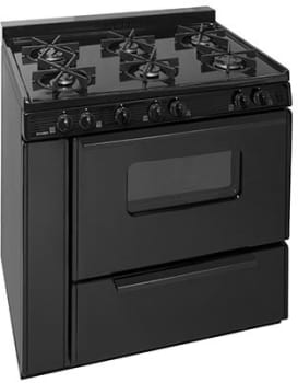 "Premier STK2X0BP - 36"" Gas Range with 6 Sealed Burners"
