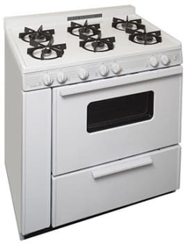 "Premier STK2X0OP - 36"" Gas Range with 6 Sealed Burners"