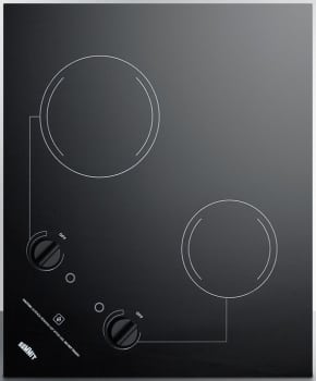 Summit CR2B121 - Smooth black ceramic glass cooktop