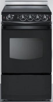 Summit White Pearl Series REX206BRT - Slide-In Electric Range from Summit