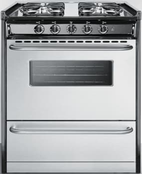Summit Professional Series TNM21027BFRWY - 30 Inch Slide-in Gas Range