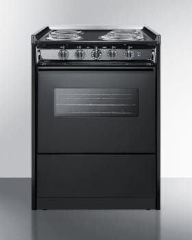 Summit TEM610CWRT - Slim 24 Inch Slide-In Electric Range