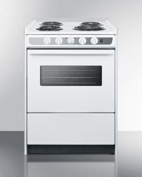 Summit WEM610WRT - Slim 24 Inch Slide-In Gas Range from SUMMIT