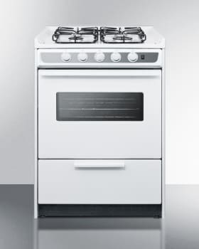 Summit WTM6107SWRT - Slim 24 Inch Slide-In Gas Range from SUMMIT