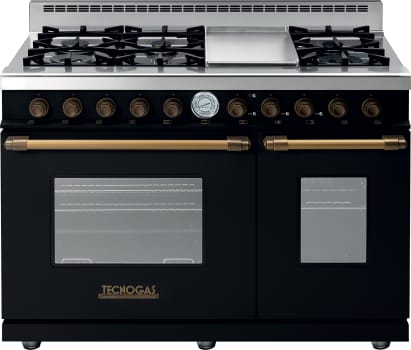 Tecnogas Superiore Deco Series RD482GCNB - Black Range with Bronze Accents