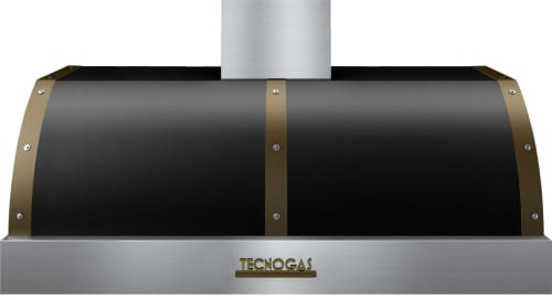 Tecnogas Superiore Deco Series HD481BTNB - Black DECO Hood with Bronze Accents