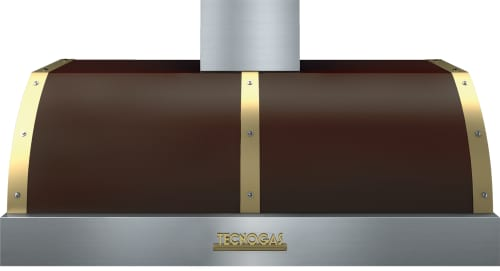 Tecnogas Superiore Deco Series HD481BT - Brown DECO Hood with Gold Accents