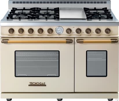 Tecnogas Superiore Deco Series RD482GCCB - Cream Range with Brass Accents