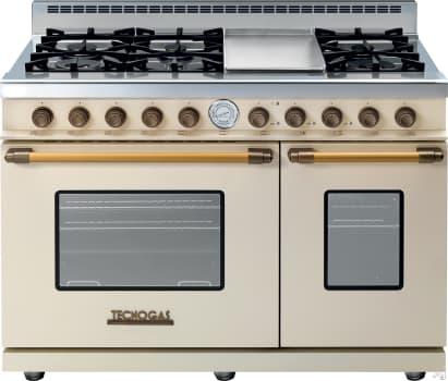 Tecnogas Superiore Deco Series RD482GCCB - Cream Range with Brass Accents