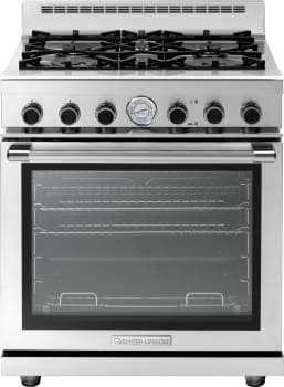 Tecnogas Superiore Next Panoramic Series RN301GPSS - Tecnogas 4-Burner Gas Range with Panoramic Door Design